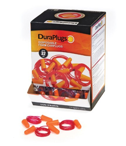 Liberty DuraPlug Uncorded Disposable Foam Earplug with 32 dB NRR Case of 200 Pairs Liberty Glove /& Safety 14310 Orange