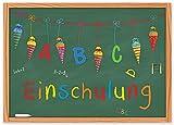 ArtUp.de 15 Einladungskarten zur Einschulung / Einladungen Set Schuleingang Schulanfang Schulbeginn...