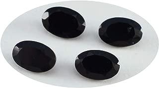 Joyas Plata 1PC Real Black Onyx Faceted 3x5 mm Oval Shape lovely Quality Gemstone JP- STBONFCOV-3x5-Au