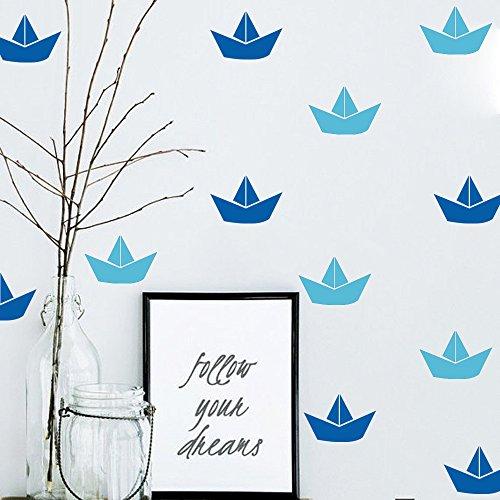 GOUZI Segelboot Gemälde PVC-Fernseher Sofa E Wall Sticker abnehmbare Wall Sticker für Schlafzimmer Wohnzimmer Hintergrund Wand Bad Studie Friseur