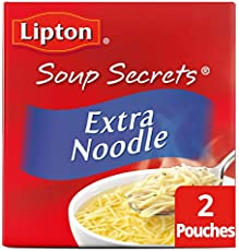 Lipton Soup Secrets Instant Soup Mix For a Warm Bowl of Soup Extra Noodle Soup Made With Real Chicken Broth Flavor 4.9 oz 2 Count