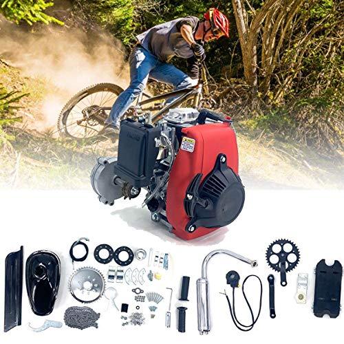 Cozyel Kit de motor de conversión de 49cc de 4 tiempos para bicicletas, Kit de motor de bicicleta de 49CC, Kit de motor de gasolina de gasolina de 4 tiempos para modificación de bicicleta motorizada