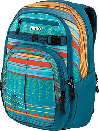 Nitro Chase Rucksack, Schulrucksack mit Organizer, Schoolbag, Daypack mit 17 Zoll Laptopfach, Canyon, 35L