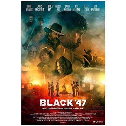 wzgsffs Black '47 Movie Lance DALY Ireland Great Famine Wall Art Poster E Impresiones Impresas En Lienzo para La Sala De Estar Home-16X24 Inchx1 Frameless