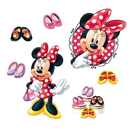 Dessin Animé Minnie Talons Hauts Stickers Muraux Chambres D'Enfant Décorations Pour La Maison Stickers Muraux Disney Pvc Art Mural Bricolage Affiches Cadeaux De Fille 40X60Cm