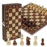 harupink Juego de ajedrez de madera, magnético, plegable, juego internacional de ajedrez de viaje estándar, para niños principiantes y adultos (29 x 29 cm)