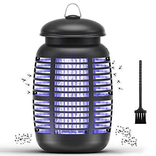 Mksutary Lampe Anti Moustique Électrique, 15W UV Moustique Tueur Anti Insectes Répulsif Attrape Bug Zapper, Efficace Portée 80m², Non Toxique pour L'intérieur Extérieur
