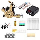LTLGHY Tatuaje Maquina Kit, Bobinas Tattoo Machine Set Cutting Shader Liner Tattoo Gun Machine Pedal De Acero Inoxidable Profesional para Principiantes Y Artistas