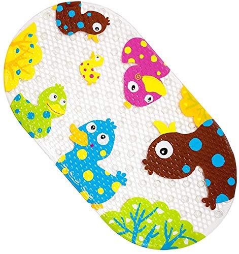 Tappetino per vasca da bagno per bambini, tappetino da bagno antiscivolo per bambino per doccia in bagno con forti ventose 39X69CM (Anatra Colorata)