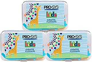 PRO-SYS Kids Dental Floss Picks - 72 Count (Pack of 3) BPA Free