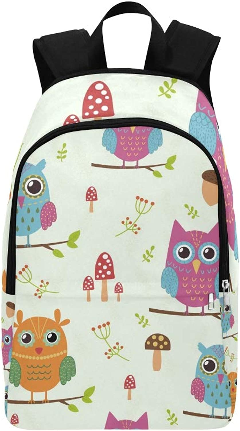 Forest Cute Owls Great Casual Daypack Travel Bag College School Backpack for Mens and Women