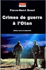 Crimes de guerre à l'Otan Broché