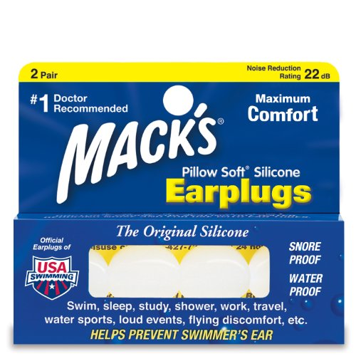 Mack's Silicone Earplugs Value Pack, Pack of 2