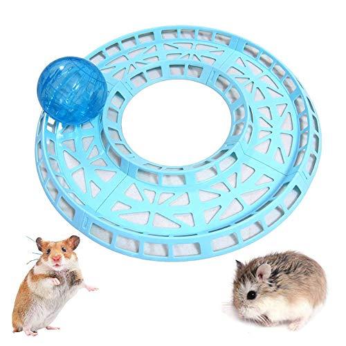 Gifty ハムスター用おもちゃ ボールとレールセット コロコロ ランナーボール ゴールデンハムスター 運動器具