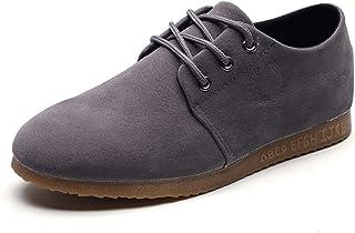 Antideslizante ocasional Oxford para hombres de negocios zapatos formales de cordón de cordones de gamuza de gamuza de cue...