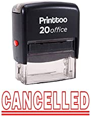 Printtoo Self Inking CANCELLED Rubber Stamp Office Stationary Custom Stamp-Red