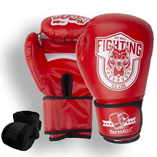 Senston Boxhandschuhe Martial Erwachsene 10 OZ Sparringhandschuhen für Männer und Frauen Kickboxhandschuhe für Boxen, Kampfsport, MMA, Sparring