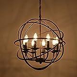 SUHANG lampadario Candela Di Ferro Lampadari Antichi Lampadari Bar Globe Lampadari Lampadari 800Mm Ruggine