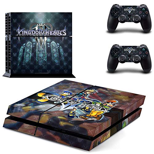 FENGLING Game Kingdom Hearts Ps4 Stickers Play Station 4 Skin Sticker Decals for Playstation 4 Ps4 Console And Controller Skins Vinyl