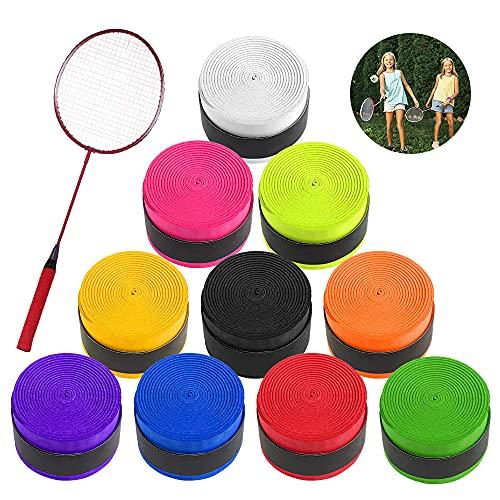 Xulisheng Griffband 10 Stück Tennis Griffband rutschfest Overgrip Dünnes Griffband für Tennis Badminton Baseball Squash Schläger und Angelrute, Bunt