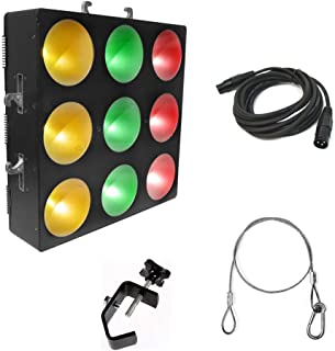 Chauvet Core 3x3 Pixel-Mapping LED Wash Fixture w/Clamp, DMX Cable & Harness