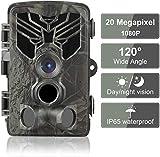 Caméra de Chasse 20MP 1080P IP65 Étanche, Caméra Surveillance avec 44 IR LED Vision Nocturne Infrarouge Jusqu'à 80FT et Grand Angle 120°