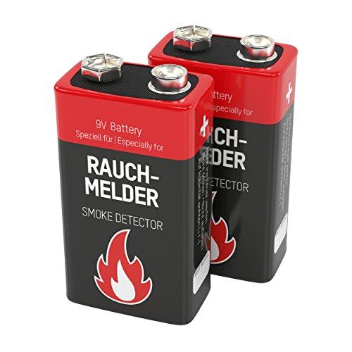 Ansmann Rookmelder batterijen alkaline 9V