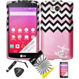 4 items Combo: ITUFFY (TM) LCD Screen Protector Film + Stylus Pen + Case Opener + Design Rubberized Snap on Hard Shell Cover Faceplate Skin Phone Case for (MetroPCS, Virgin Mobile, Verizon) LG F60 LG TRIBUTE LS660 LG Transpyre VS810 (4.5