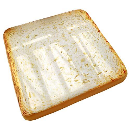 JKL Simulation Brotkissen, niedlicher Toast Professor Sitzkissen Memory Cotton Abnehmbare Dicke Matte (größe : 56 * 56 * 6cm)