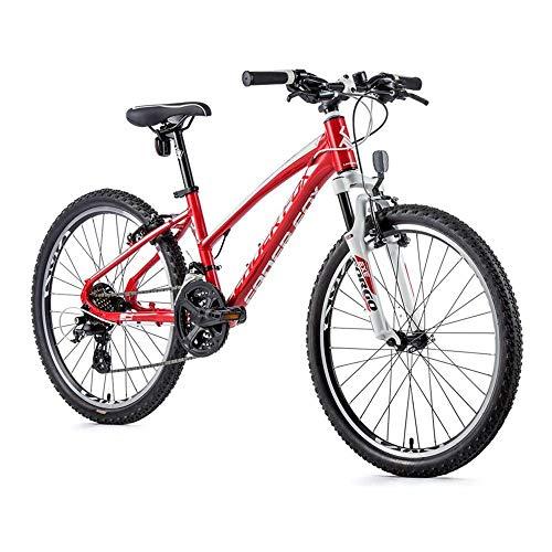 24 Zoll Leader Fox Spider Girl Mädchen Fahrrad MTB Shimano 21 Gang rot