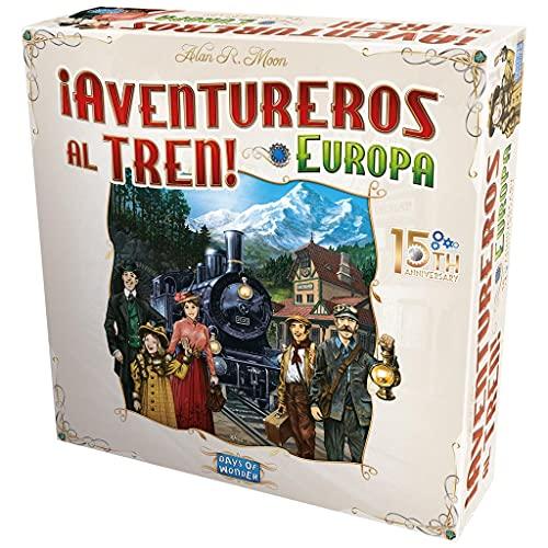 Days of Wonder Aventureros al Tren Europa: 15 Aniversario - Juego de Mesa en Español