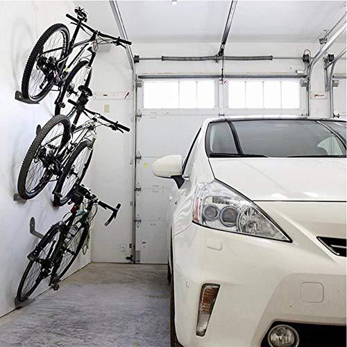 Krystallove 3 Teile/Satz Fahrrad Wandhalterung, Wandhalterung Fahrradhalterung Unterstützung für Pedale, Reifen und Aufhängungen, Fahrradhalterung Kohlenstoffstahl Tragkraft 100 KG