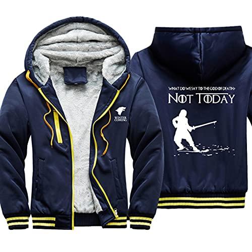 HOBEKOK Sudadera con capucha y cremallera completa para hombre, chaqueta de invierno gruesa, de manga larga,...