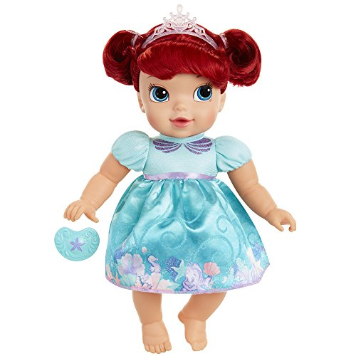 Disney Princess Deluxe Baby Ariel Doll with Pacifier Baby Doll Toy