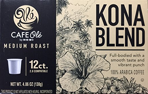 H-E-B Cafe Ole Kona Blend Medium Roast Single Serve Coffee Cups