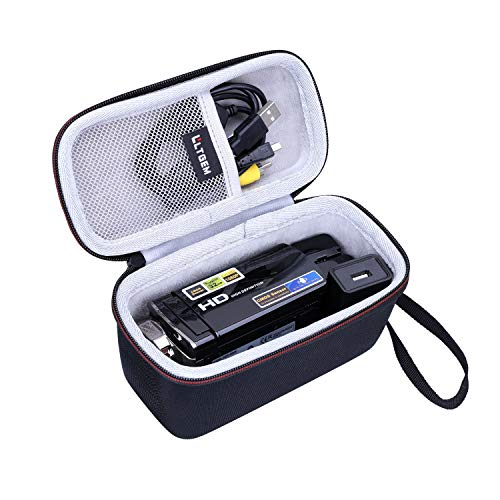LTGEM EVA Hard Case for Kicteck Video Camera Camcorder Digital YouTube Vlogging Camera Recorder - Travel Protective Carrying Storage Bag