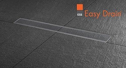 ESS Duschrinne Basic Drain 800mm 80cm Komplett Set mit Fliesenmulde