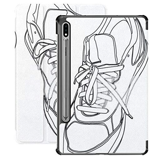 Estuche para Galaxy Tab S7 Estuche Delgado y liviano con Soporte para Tableta Samsung Galaxy Tab S7 de 11 Pulgadas Sm-t870 Sm-t875 Sm-t878 2020 Liberación, Atar Zapatos Deportivos Ilustración vectori
