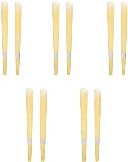 Hemoton 10Pcs Bijenwas Earcandles Natuurlijke Trompet Bijenwas Geurende Oor Waxcandle Therapie Aromatherapie Kaars Voor Oo...