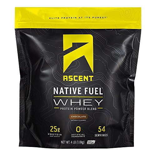 Ascent Native Fuel Whey Protein Powder  Chocolate  4 lbs
