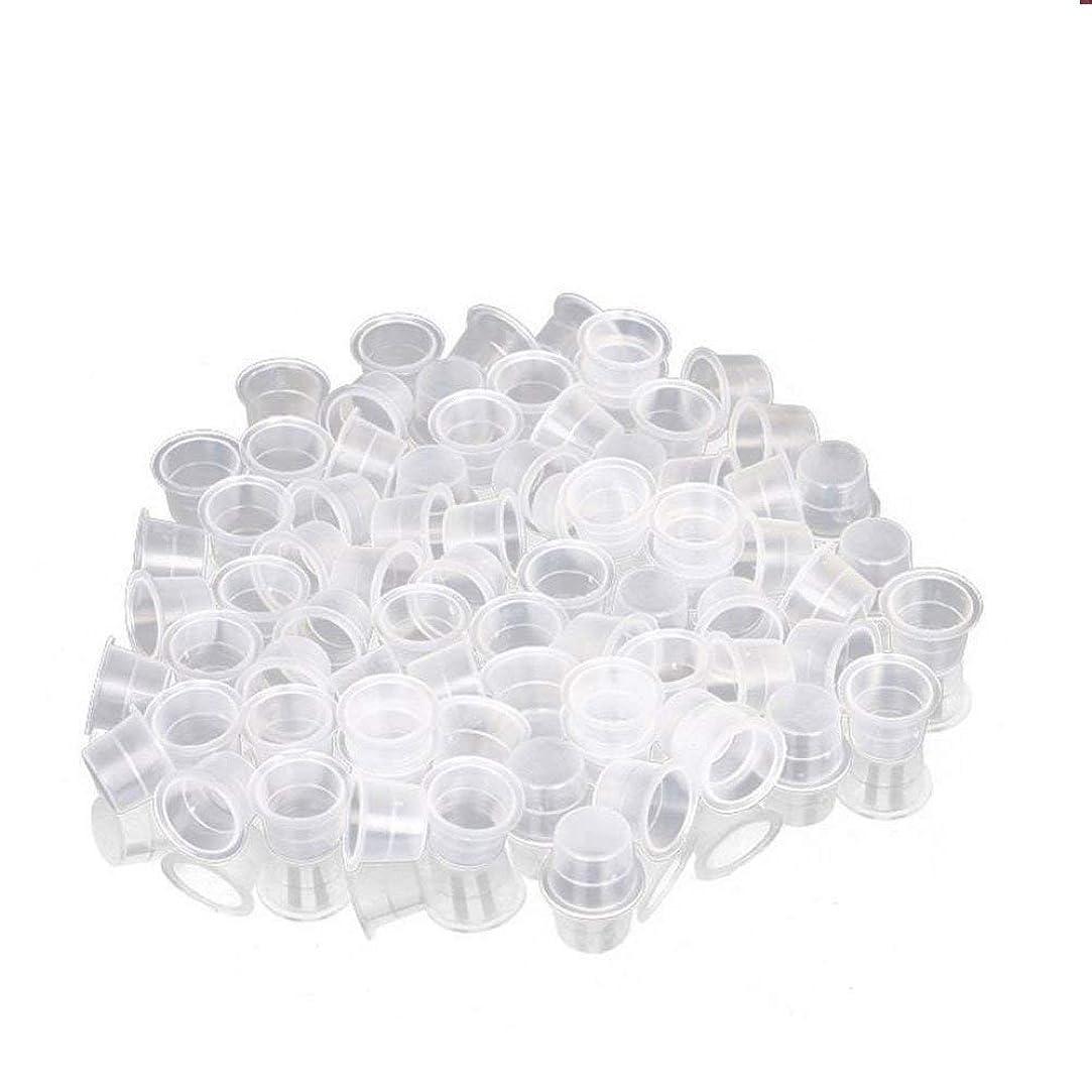 アマゾンジャングル定常光沢インクカップ、顔料カップ、顔料ボックス ディスポーザブル、シリコーン製颜料ツール、キッ100個のための小さな染料皿