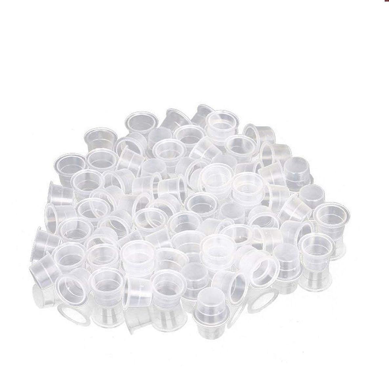 ヘビーイチゴ慎重インクカップ、顔料カップ、顔料ボックス ディスポーザブル、シリコーン製颜料ツール、キッ100個のための小さな染料皿