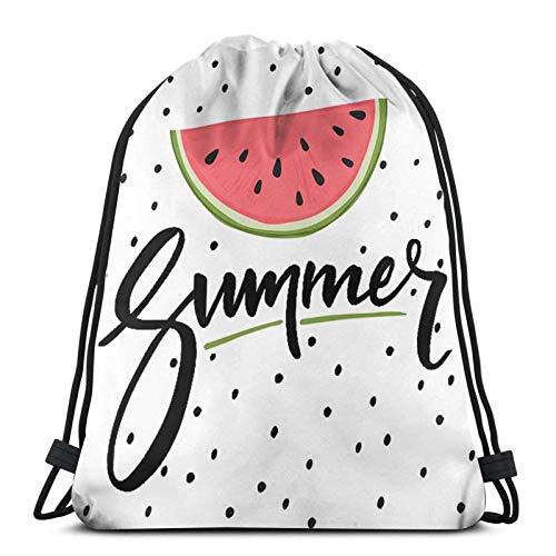 Mochila para mujeres, hombres, mochila deportiva, para mujeres, hombres, estudiantes, trabajo, gimnasio, escuela, frutas blancas hola, verano, sandía, talla única