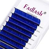 Extensiones de Pestañas de Colores Espesor Easy Fan Lashes 0.07 D Curl 8-14mm Azul Suave Volumen Natural Extensiones de Pestañas Espesor Easy Fan Lashes