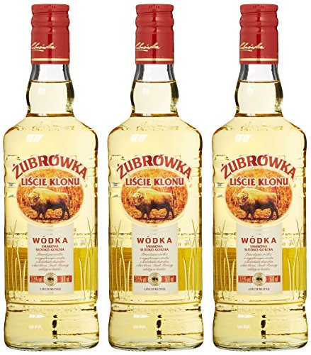 Zubrowka Ahornblatt/Liscie Klonu Wodka (3 x 0.5 l)