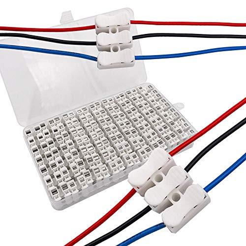 Senven Morsettiera Terminale a Molla Rapida 42Pcs 10a, Connettore a Molla Per Connettore Rapido,Connettore, Collegamento Per Cablaggio Elettrico e Alimentazione Illuminazione, CH3-42Pcs