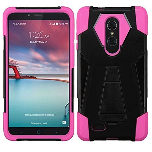 Asmyna Cell Phone Case for ZTE Zmax Pro - Hot Pink
