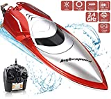 Haktoys High-Speed 25KM/H RC Remote Control Boat, Double-Hatch Protection, Low Battery Reminder