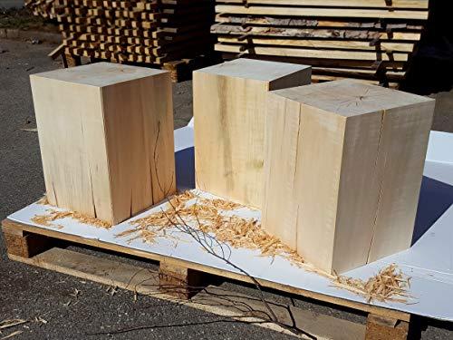 Houten blok massief XXL selectie Houttype / grootte linde eiken massief houten kruk decozuil houten blok houten zuil bijzettafel naturel