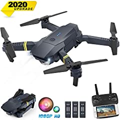 EQUIPPED WITH 1080P HD DRONE CAMERA. Capture HD photo and video at the location you want. And it has FPV real-time transmission through the App system. Upgrade dual camera, switch the Angle of view arbitrarily. Feel the high-altitude visual image. FO...